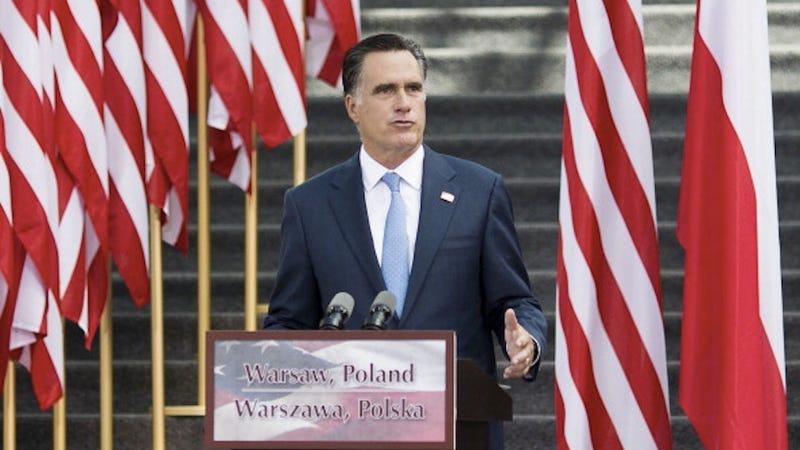 Illustration for article titled Romney Aide Urges Press to Respect Polish Holy Site by Kissing His Ass and Shoving It