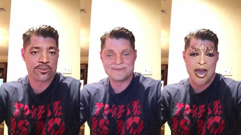 """The Face Swap app lets this man be everyone in """"We Are The"""