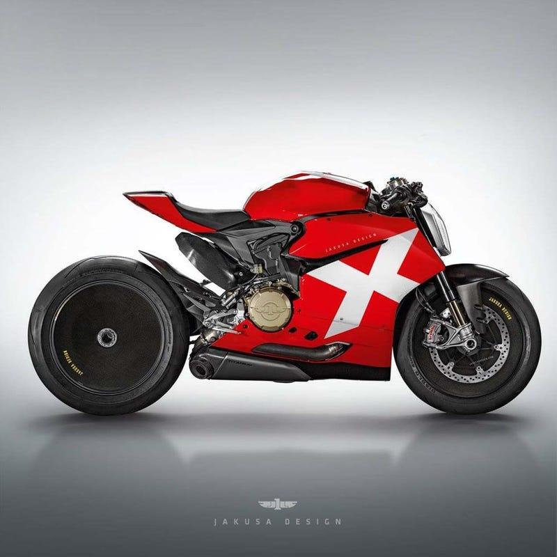 Illustration for article titled Ducati V4 Superbike Revealed!!