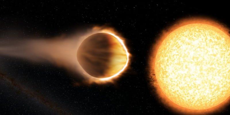 Detectan la existencia de moléculas de agua en un enorme exoplaneta