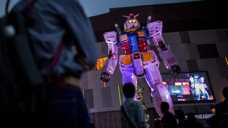 Japan's life-size Gundam statue