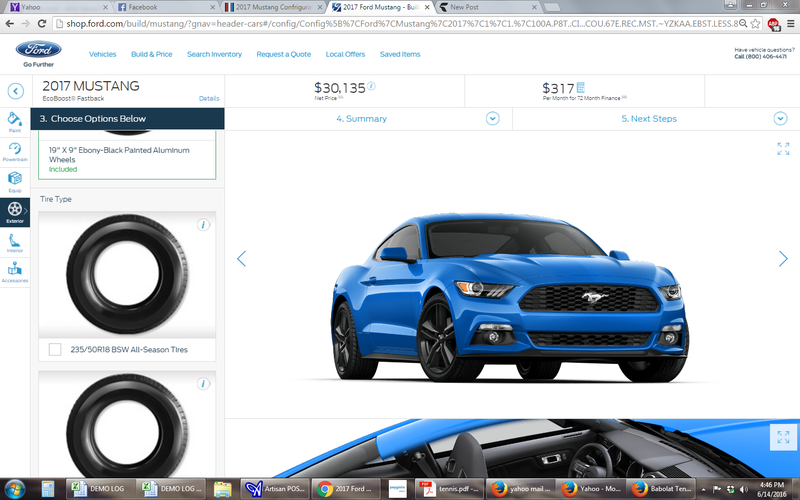 Illustration for article titled 2017 Mustang Configurator is LIVE!!