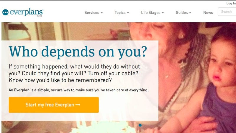 Everplans Stores Useful Data In Case of Your (or Someone Else's) Death
