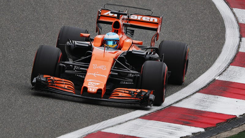 Fernando Alonso on his way to a DNF at the most recent F1 Grand Prix. Photo Credit: Getty Images