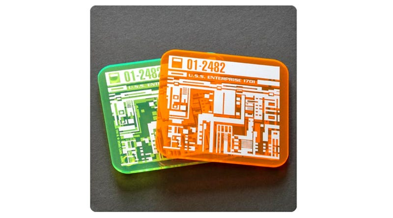 Illustration for article titled These Star Trek Isolinear Chip Coasters May Be the Nerdiest Merchandise We've Ever Seen