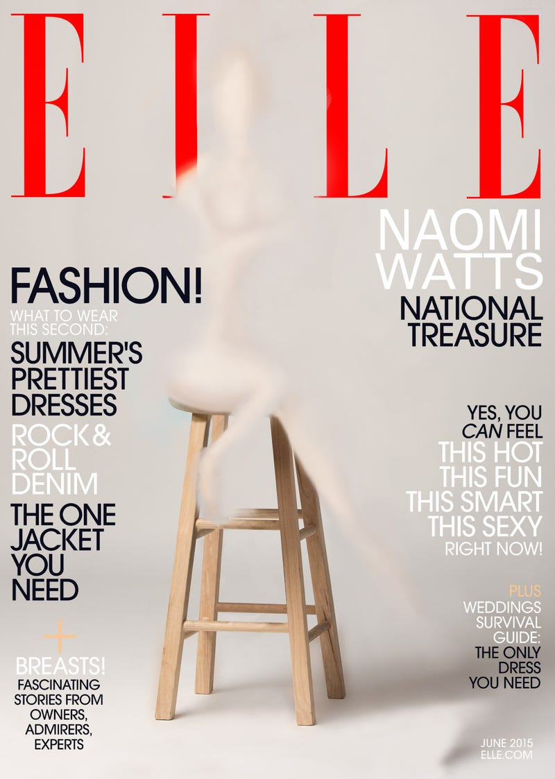 Illustration for article titled 'Elle' Magazine Accidentally Airbrushes Naomi Watts Out Of Cover Altogether