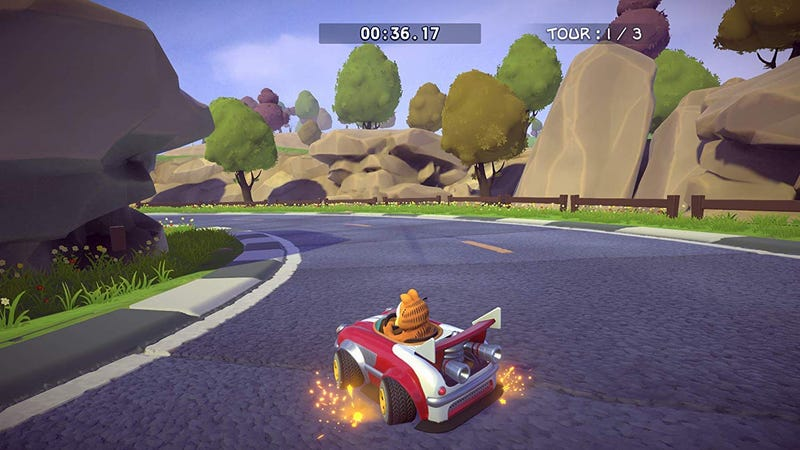 Illustration for article titled I Wish To Inform You That Another Garfield Kart Has Been Made