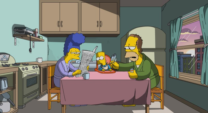 Illustration for article titled Another retcon of Marge and Homer's marriage leaves us wondering who these impostor Simpsons are