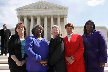 Plaintiffs in the Wal-Mart sex-bias suit (Google)