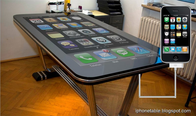 "Illustration for article titled This Desk Is Cooler Than Your Desk Because It's a 58"" iPhone"