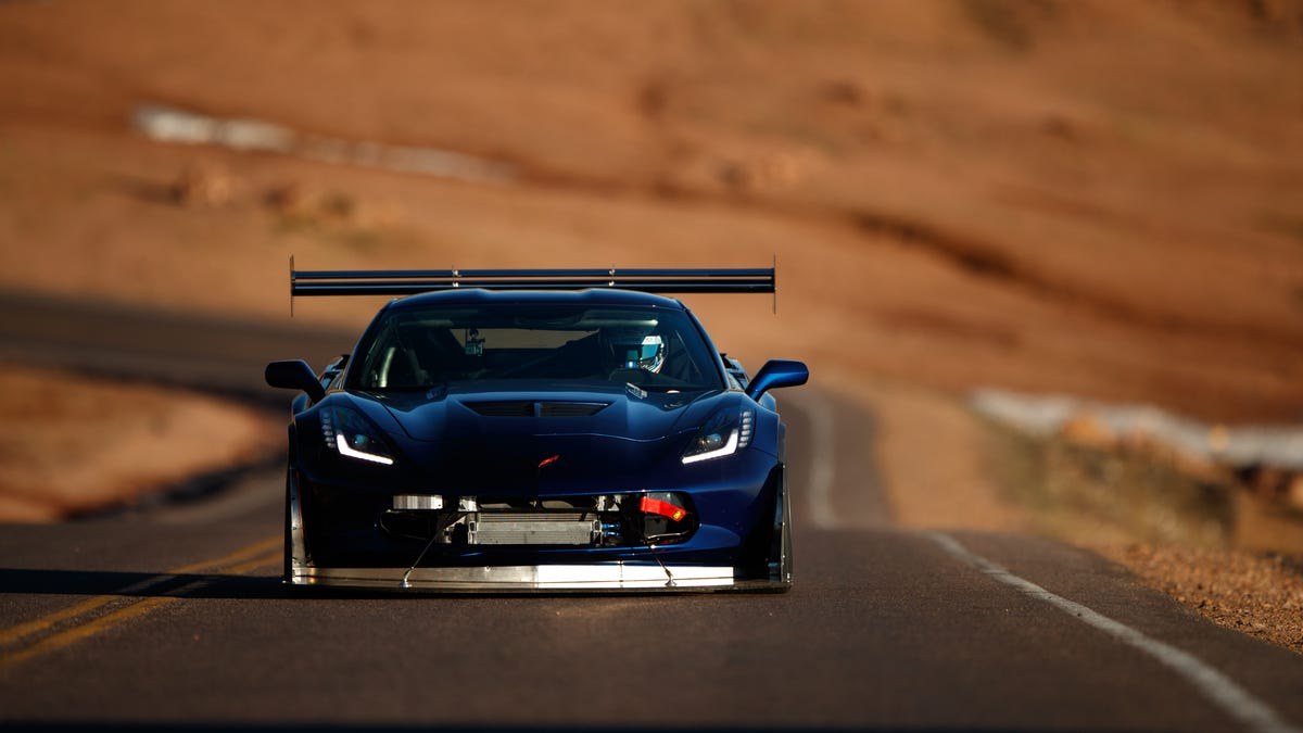 My Salvage Z06 Is The Fastest Corvette Ever To Go Up Pikes Peak