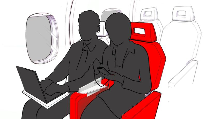 Illustration for article titled Este invento puede acabar con la guerra del reposabrazos en el avión