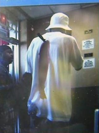Andrew Hardy, 53, walked into a Queens, N.Y., McDonald's after being stabbed in the back while trying to break up an argument. WCBS/CHANNEL 2 SCREENSHOT