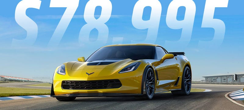 Illustration for article titled 2015 Corvette Z06 Is A Deal At $78,995