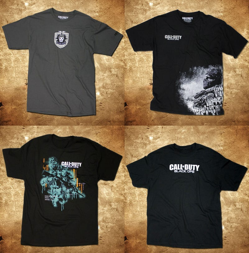 Illustration for article titled The Official Call Of Duty: Black Ops T-Shirts Are Here