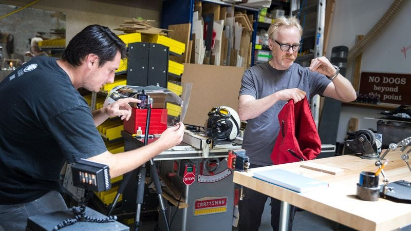 Illustration for article titled Mythbusters' Adam Savage talks animation, brings workshop to cartoon life