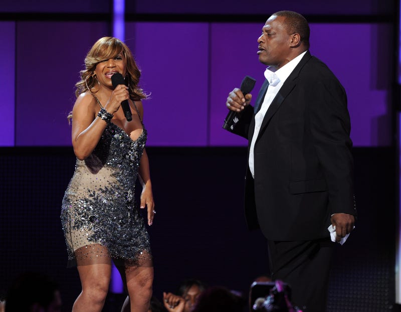 Cherrelle and Alexander O'Neal perform during the BET Awards at the Shrine Auditorium on June 26, 2011, in Los Angeles.