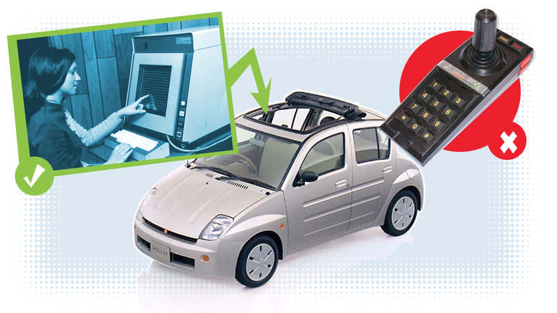 Illustration for article titled Any Carmaker Still Not Using A Touchscreen For Their Infotainment System Is An Idiot