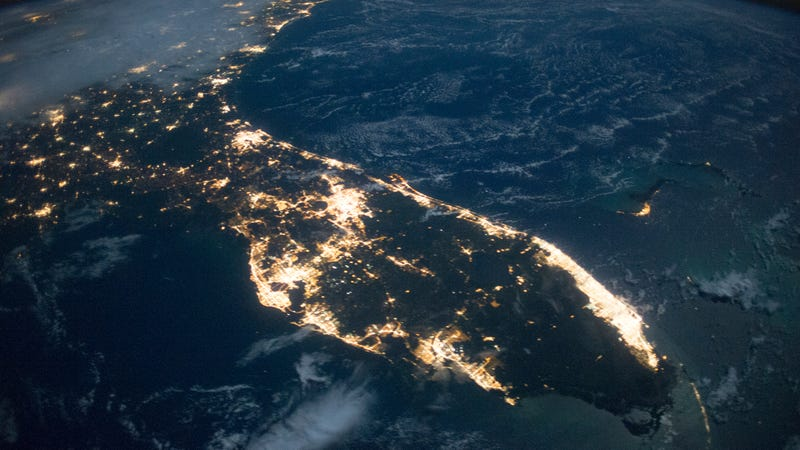 Florida at night. (Image: NASA/JSC)