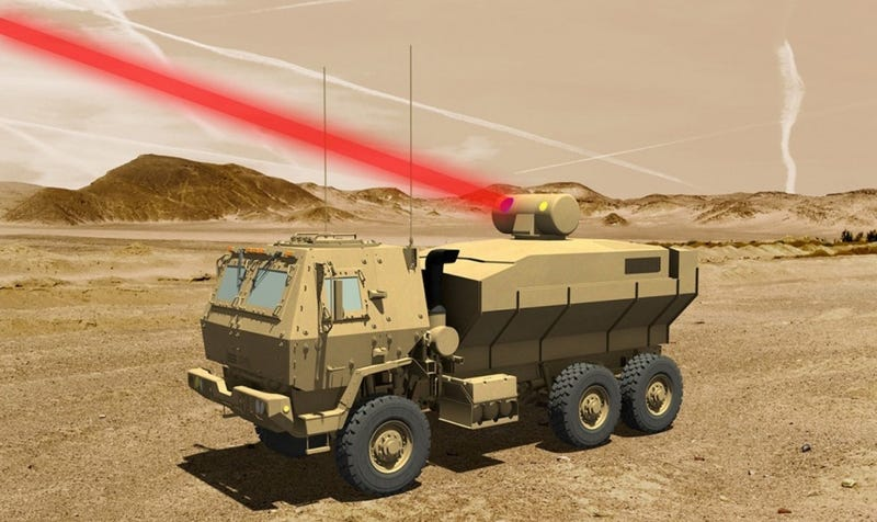 Illustration for article titled The Army Will Finally Be Able To Blast Drones With Lasers Soon