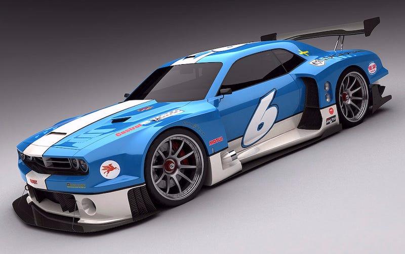 Illustration for article titled Vizualtech Renders Dodge Challenger GT