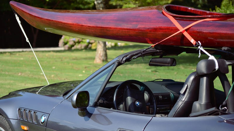 Illustration for article titled 1999 BMW Z3 Roadster: Will It Kayak?