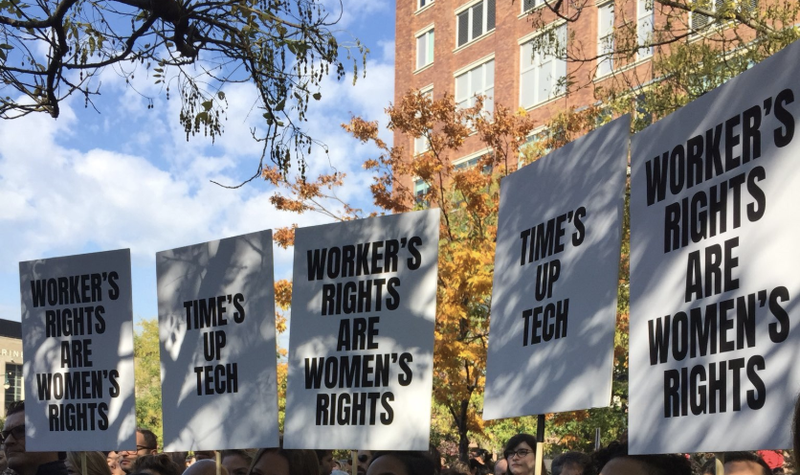 Illustration for article titled Massive Google Walkout Over Sexual Misconduct Marks Tech's 'Time's Up' Moment