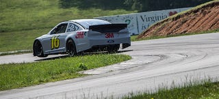 Illustration for article titled The Three-Wheeling At NASCAR Road Course Testing Was Unbelievable