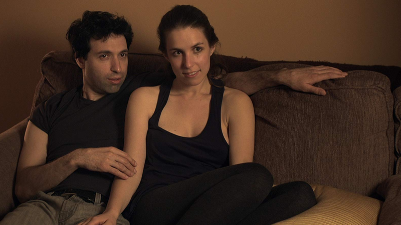 Sophia Takal (right) and Alex Karpovsky (left) in the film Supporting Characters.