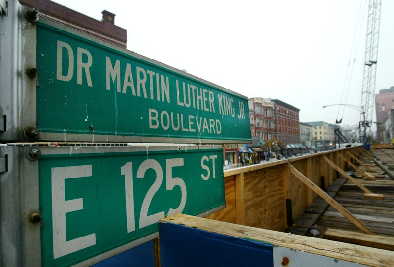 Construction on 125th Street in the Harlem neighborhood of New York City in 2003