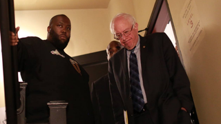 Sen. Bernie Sanders with rapper Killer Mike after Mike's endorsement at an Atlanta rally Nov. 23, 2015Bernie Sanders via Facebook