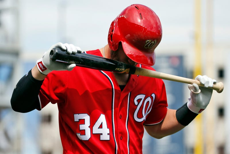 You Will Absolutely Guess Which Emoji Bryce Harper Has On ... Bryce Harper 2014 Bat