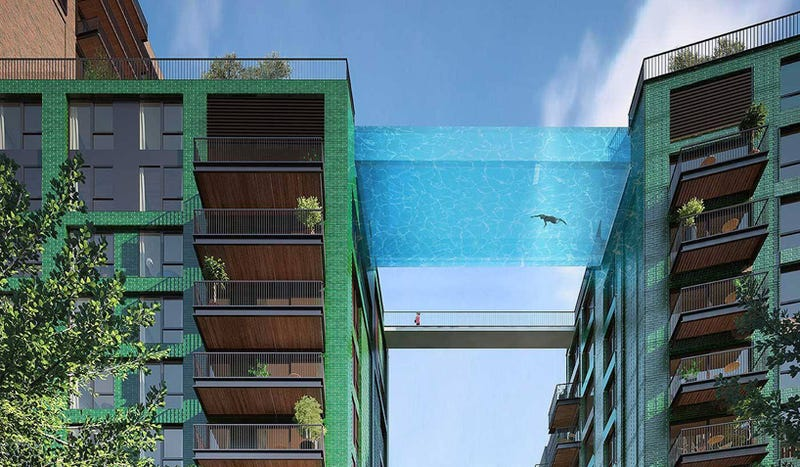Illustration for article titled Una increíble piscina de cristal unirá las azoteas de estos edificios en Londres