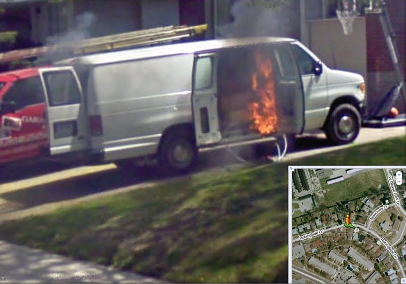 Illustration for article titled If You Lived Here... Your Van Would Be On Fire