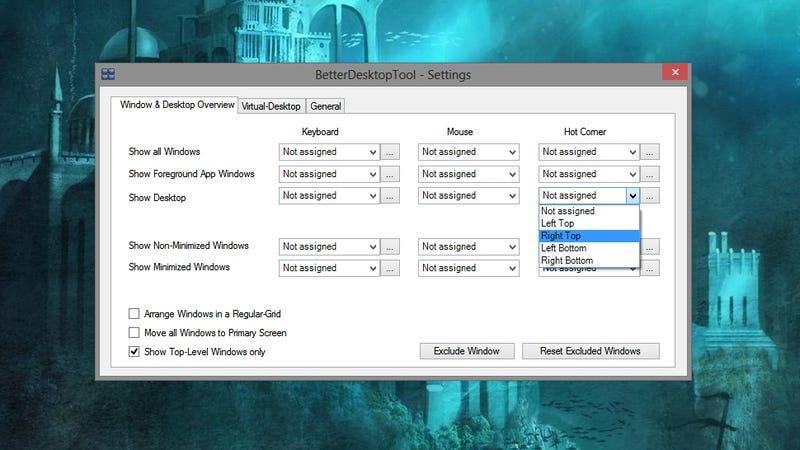 BetterDesktopTool Brings Exposé- and Spaces-Like Shortcuts to Windows