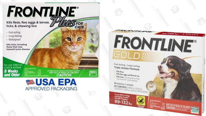 20% off Frontline Flea and Tick Prevention | Chewy | Discount shown at checkout