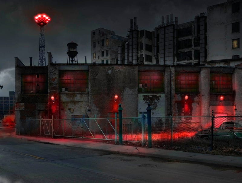 Illustration for article titled Cleveland Changes Lights On Abandoned Manufacturing Plants To Red In Support Of Indians