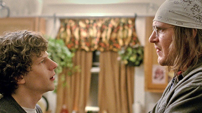 Jesse Eisenberg and Jason Segel in The End Of The Tour.