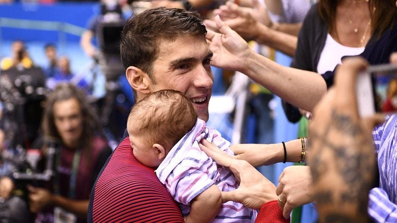 Illustration for article titled Michael Phelps Proudly Describes How Infant Son Subsists Off 12,000 Calories' Worth Of Breast Milk Per Day
