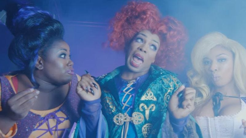 Illustration for article titled The witches of Hocus Pocus have fallen on hard times in Todrick Hall's Hocus Broke-us