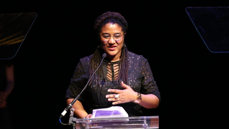 Lynn Nottage speaks on stage during 32nd Annual Lucille Lortel Awards at NYU Skirball Center on May 7, 2017 in New York City.