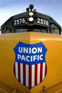 Illustration for article titled Union Pacific Rail Hops On Green Train Like Some Treehugging Hobo