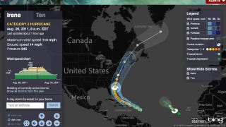 Illustration for article titled Keep Tabs on Hurricane Irene with These Tracking Maps and Smartphone Apps