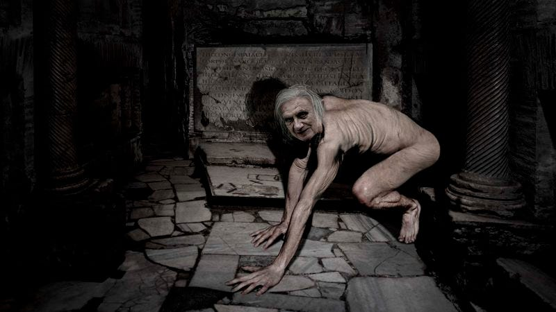 The former pontiff, terrified by lamplight, retreats into the Tomb of Julii, where officials say he has made a small nest.