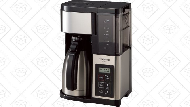 Cafetera Zojirushi 10 tazas, $75 con cupón de $20
