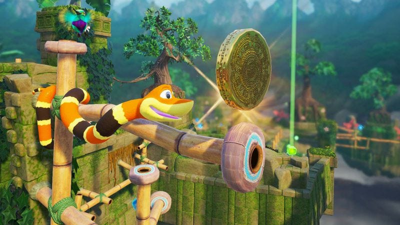Illustration for article titled Snake Pass can help realize everyone's lifelong dream of being a klutzy snake
