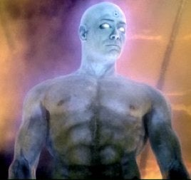 Illustration for article titled Dr. Manhattan's Blue Man Bits Now In HD