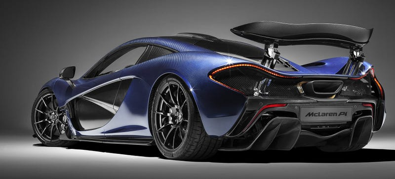 McLaren P1 blue