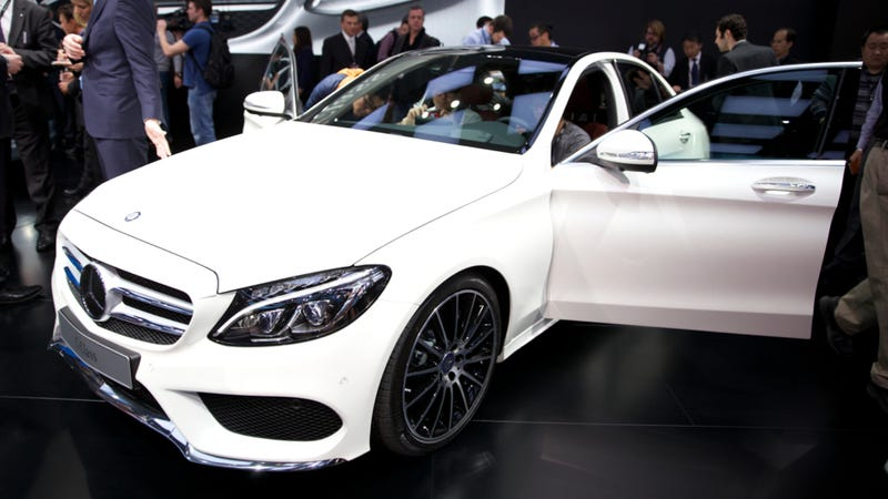 the 2015 mercedes c class is the lightest car in its segment - 2015 Mercedes C Class White