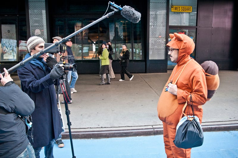 Illustration for article titled Man in Tanooki Suit, Giant Bullet Spotted in Manhattan